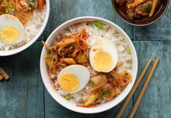 recette oeufs marines kimchi