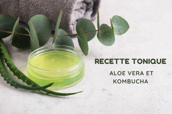 recette de tonique visage aloe vera et kombucha